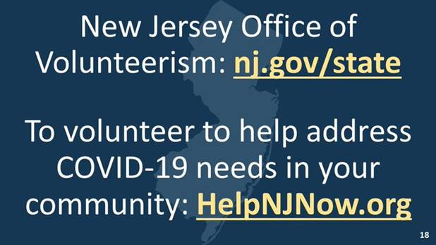 To volunteer to help address COVID-19 needs in your area